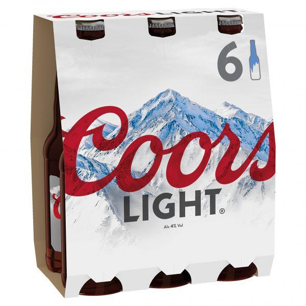 Coors Light Bottle 330ml 6 Pack ABV 4.3%
