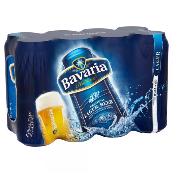 Bavaria 8 Pack 500ml Can ABV 4.3%