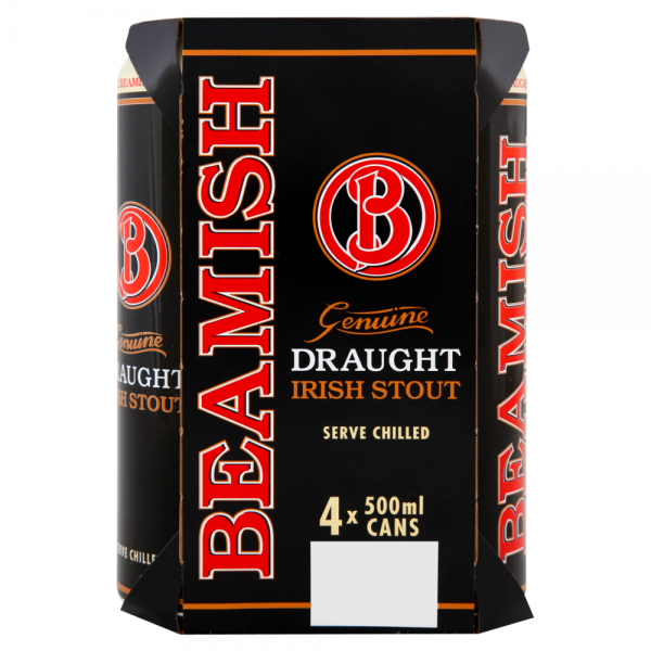 Beamish Draught 500ml 4 Pack ABV 4.3%