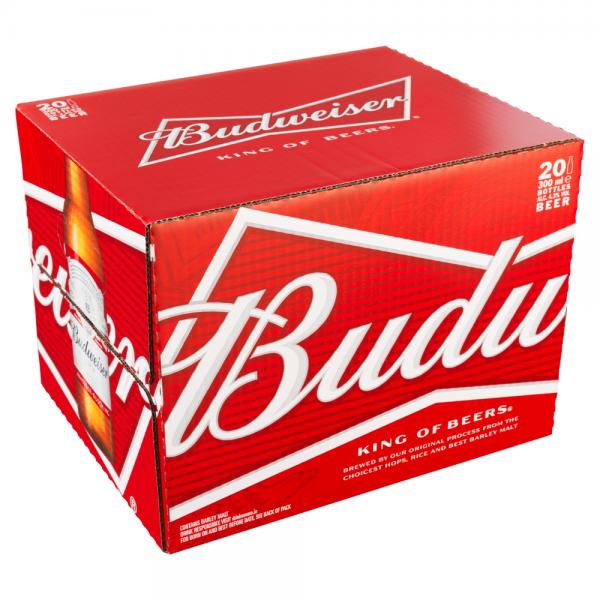 Budweiser 300ml 20 Pack ABV 4.3%
