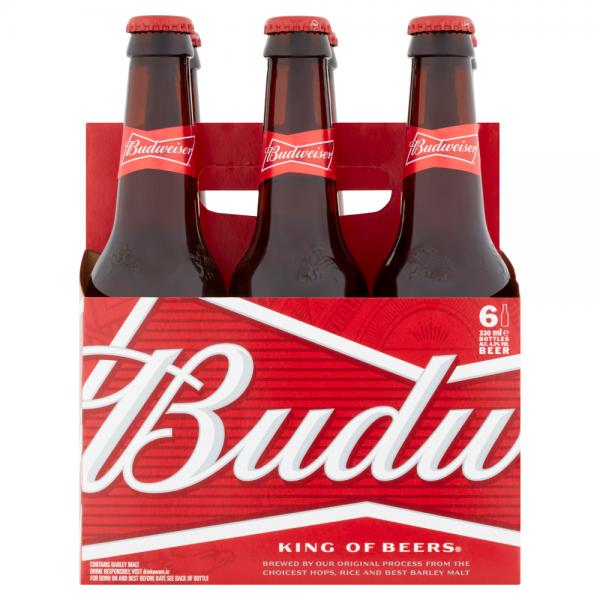 Budweiser 6 Pack Bottle 330ml 4.3%
