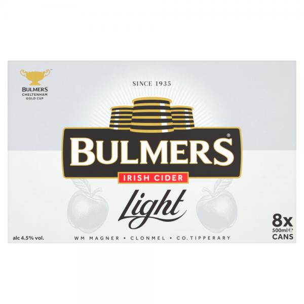 Bulmers Light 500ml 8 Pack ABV 4.5%