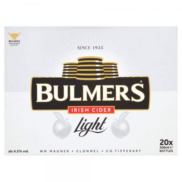 Bulmers Light 300ml 20 Pack ABV 4.5%