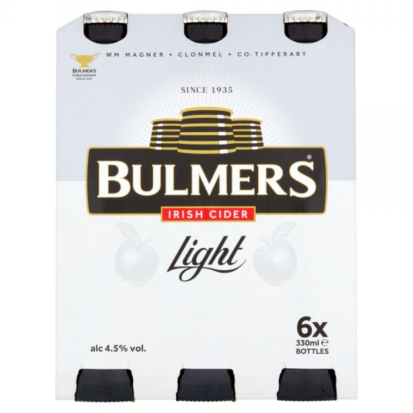 Bulmers Light 500ml 6 Pack ABV 4.5%