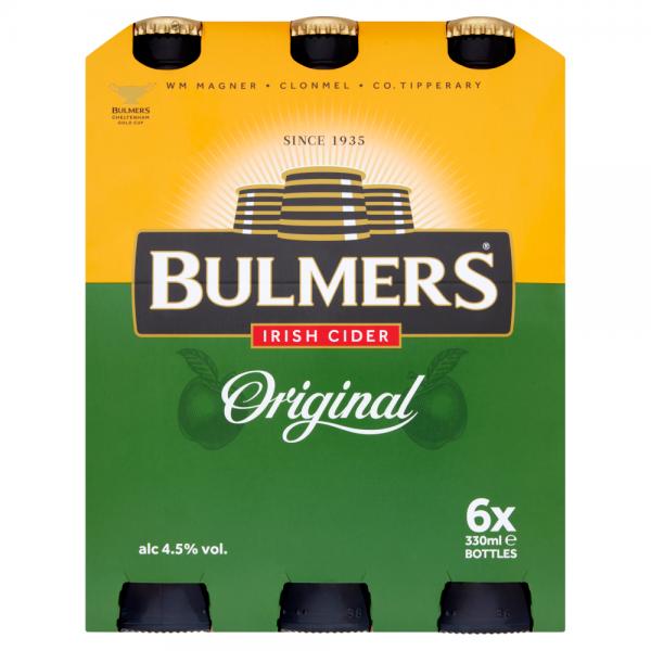 Bulmers 330ml 6 Pack ABV 4.5%