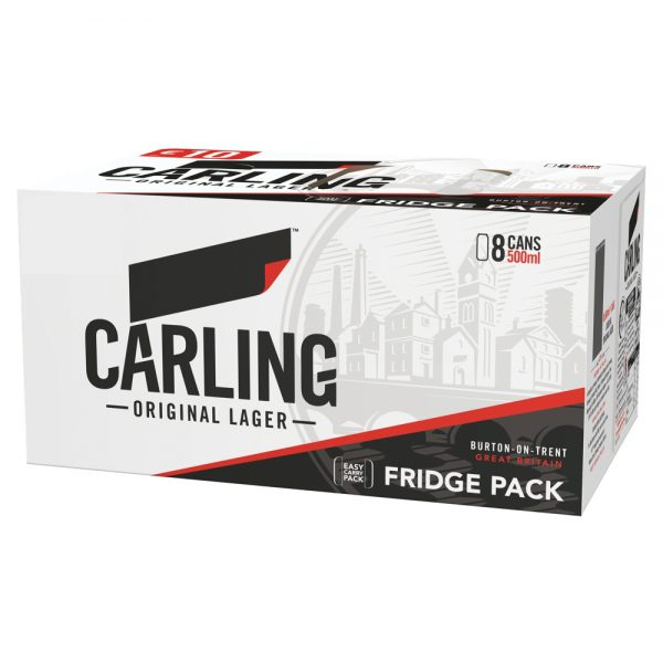 Carling 8 Pack 500ml PM Can ABV 4%