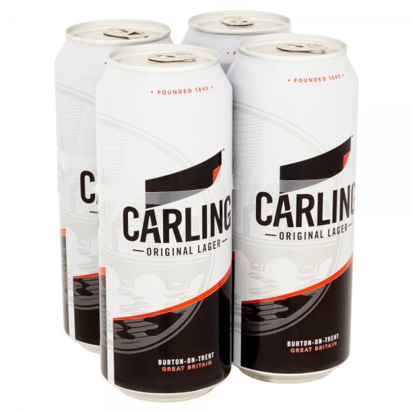 Carling 500ml 4 Pack Can ABV 4%