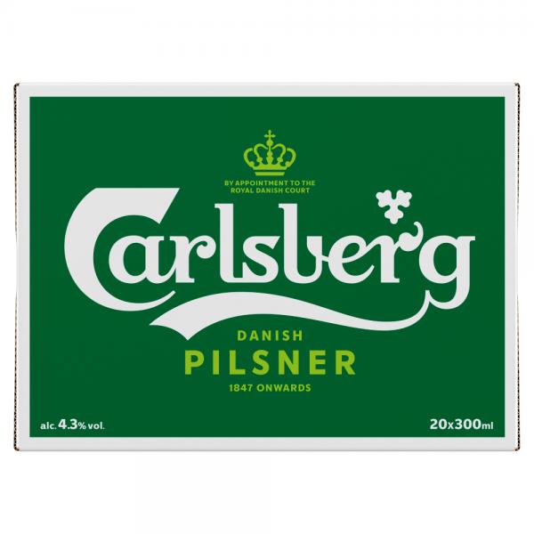 Carlsberg 300ml Bottle 20 pack ABV 4.3%