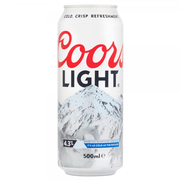 Coors Light 500ml Can ABV 4.3%