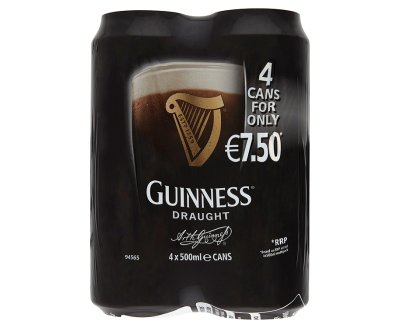 Guinness Draught 500ml 4 Pack Can ABV 4.2%