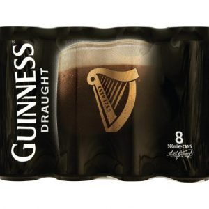 Guinness Draught 8 Pack 500ml Can ABV 4.2%