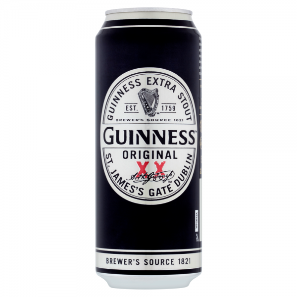 Guinness Extra Stout 500ml Can ABV 4.2%